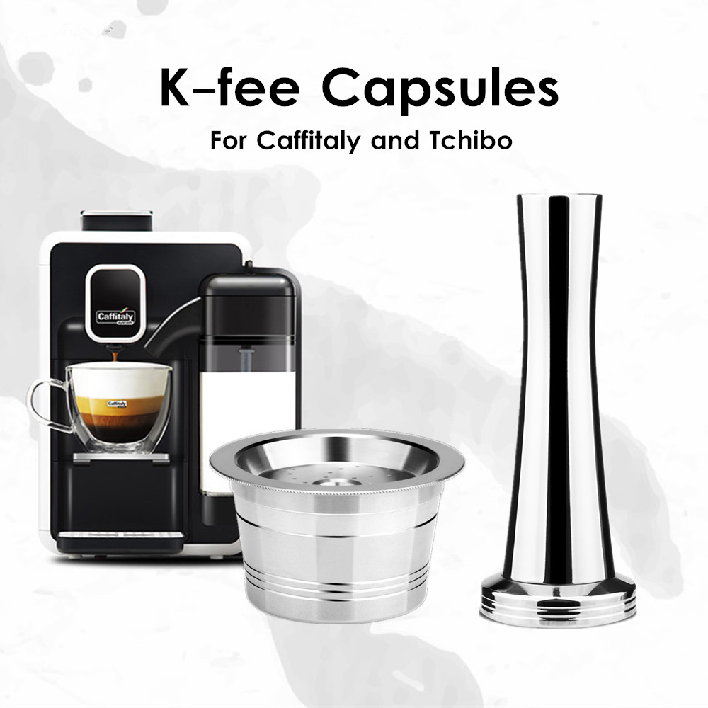Famus Reusable Coffee Capsule Filter Pod Machine Coffee Cup Brush Spoon Kit Fit for LAVAZZA MIO
