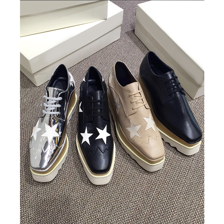 ФОТО Casual shoes woman with thick soles Xinpo stars women shoes lady style waterproof leather shoes women shoes lace brand muffin