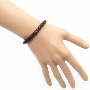 Image 4 - Bán buôn 100 cái/lốc Thời Trang Mới Quấn Handmde Dây Thừng Bện Dệt Nữ Femme Homme Nam PU Đàn Ông Da Bracelet Đối Với Phụ Nữ đồ trang sức
