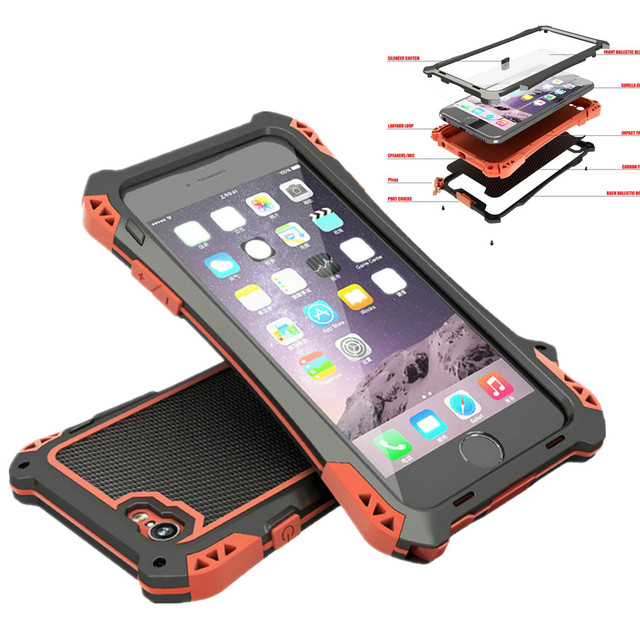 release date 608eb 3eb4a US $25.99 |Brand Waterproof Shockproof Metal Aluminum Armor Hard Case For  iPhone 5 5s SE 6 6s Plus Cover Phone Cases With Tempered Glass-in Fitted ...