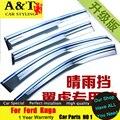 A&T car styling For Ford Kuga Escape Rain shield 2013-2015 For Kuga Rain gear with bright strips rain shield gear rain eyebrow C