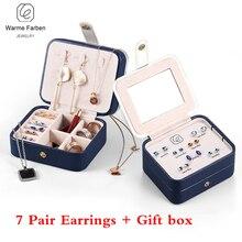 One Week Earrings Female Korean Simple Temperament Stud Earrings 925 Sterling Silver Earrings Set don't need Pick on Sleep Gifts