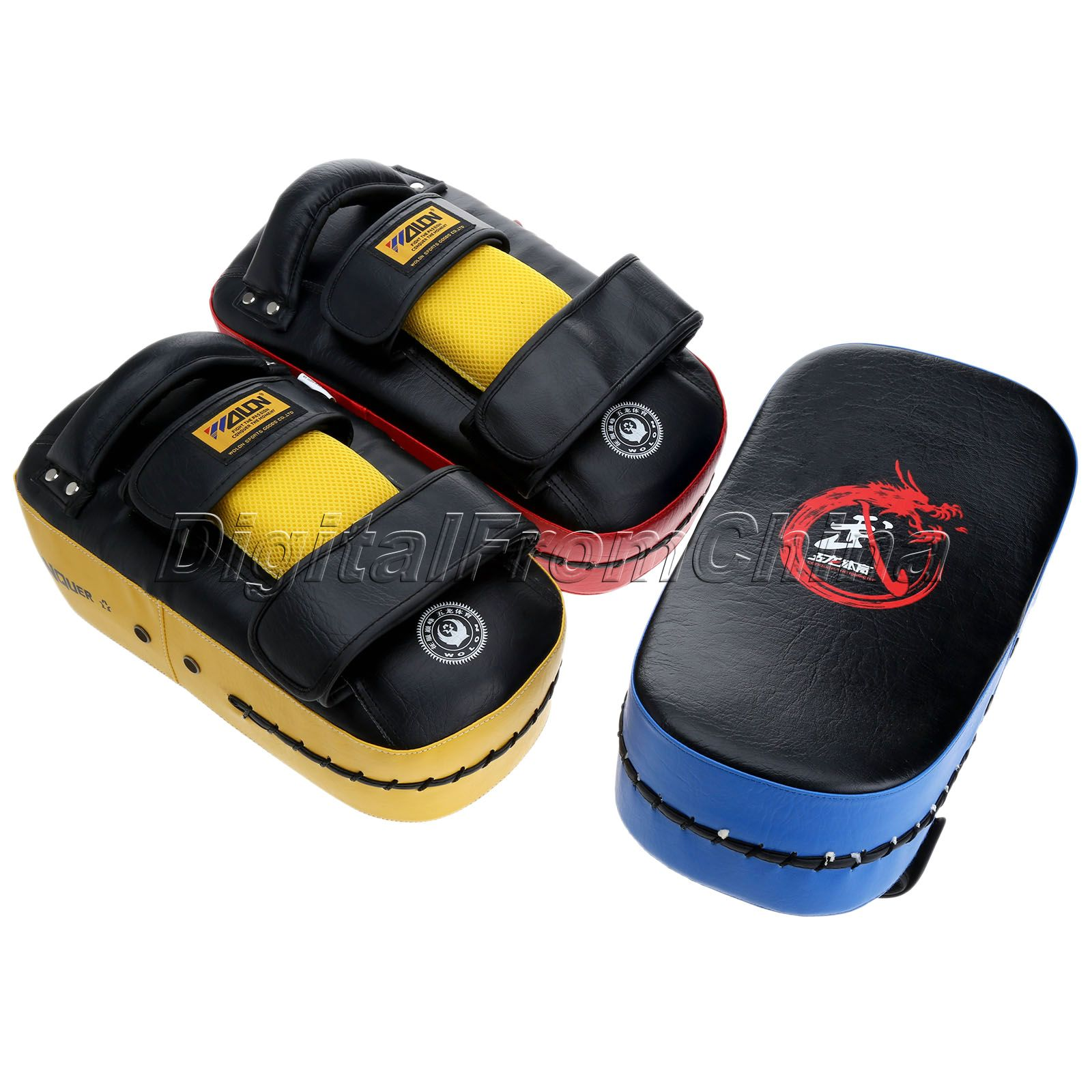 Mens leather gloves target - Boxing Pad Pu Leather Top Quality Muay Thai Kick Boxing Gloves Target Taekwondo Sanda Training Punching