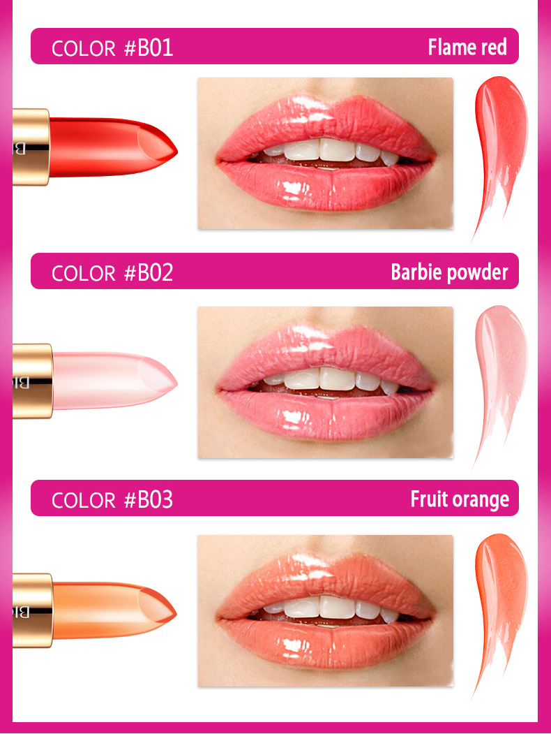 BIOAQUA Exfoliating Gel / Lip Film /Jelly Liquid Lipstick Lip Care Set Beauty Makeup Liquid Lipstick Pink Tender Moisturizing 35