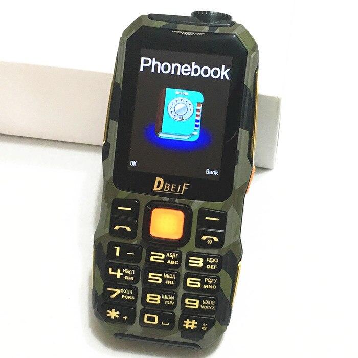 Цена за Оригинал DBEIF TVD1000 power bank FM фонарик мобильный телефон русская клавиатура gsm Телефон китае Мобильных Телефонов сотовые телефоны