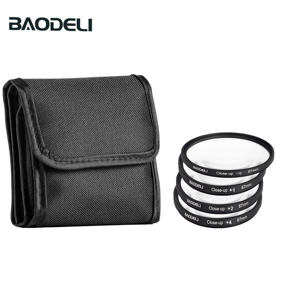 BAODELI One Set Camera Lens Filtro Concept Close Up 1 2 4 10 Macro Filter 49mm 52 55 58 62 67 72 77 82 mm For Cannon Nikon Sony image