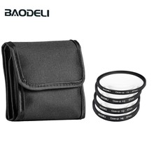 BAODELI One Set Camera Lens Filtro Concept Close Up 1 2 4 10 Macro Filter 49mm 52 55 58 62 67 72 77 82 mm For Cannon Nikon Sony baodeli dslr mrc filtro one set concept nd 2 4 8 lens filter 49 52 55 58 62 67 72 77 82 mm for cannon nikon sony accessories