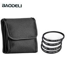 Baodeli um conjunto de filtro de lente de câmera, filtro para lente de câmera, perto, 1, 2, 4, 10, macro, 49mm, 52, 55, 58 62 67 72 77 82 mm para cannão nikon sony