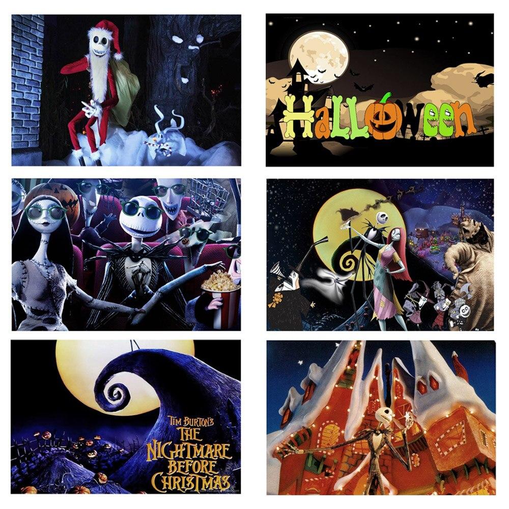 La pesadilla antes de la Navidad Metal Tin Sign Bar Pub Club placa feliz Halloween fiesta Decoración Retro hogar Decoración Póster Colgante de ventana de bola de vidrio de arcoíris de Chakra de Metal en 3D, colgante de cristal hecho a mano con prismas de mariposa y corazón