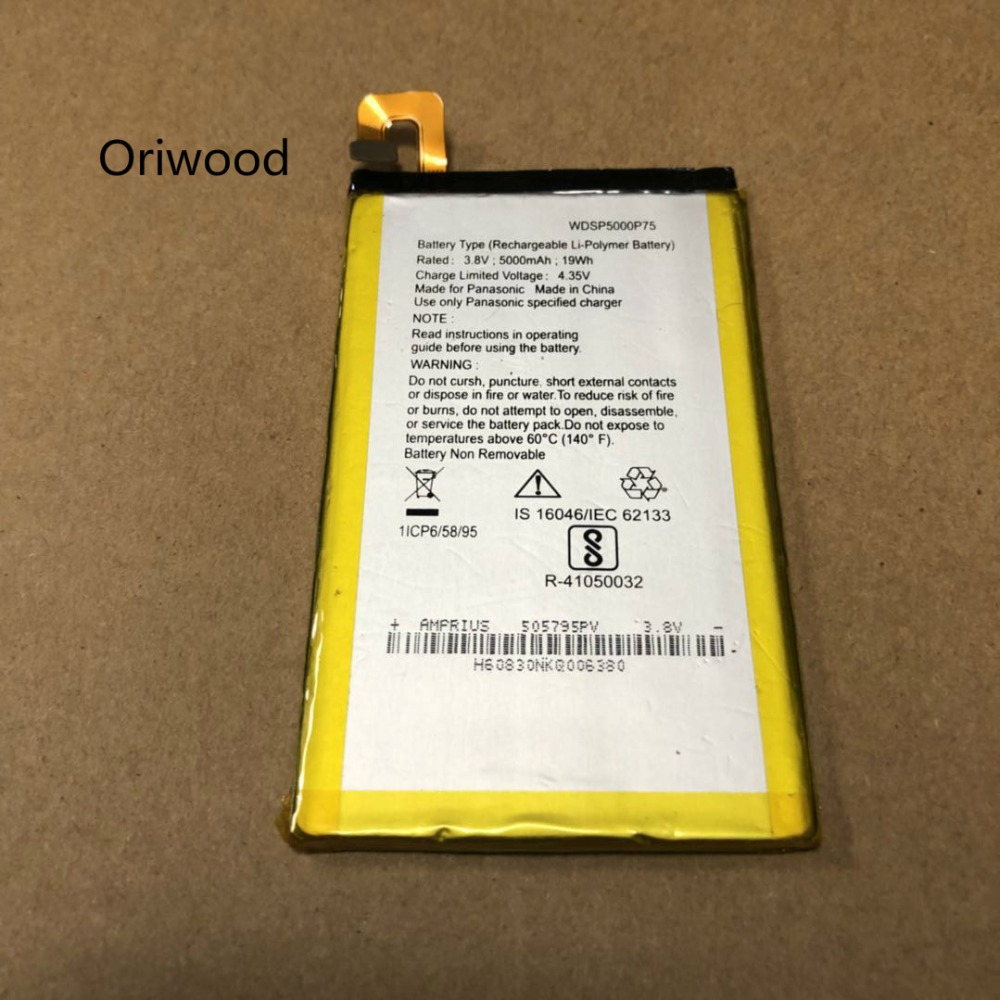 Oriwood 2018 NEW 3 8V for Panasonic WDSP5000P75 battery-in