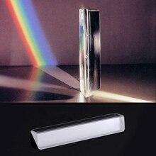 Треугольная Цветовая Призма K9 оптическое стекло правый угол отражающая треугольная призма для обучения светильник спектра M13 Прямая поставка