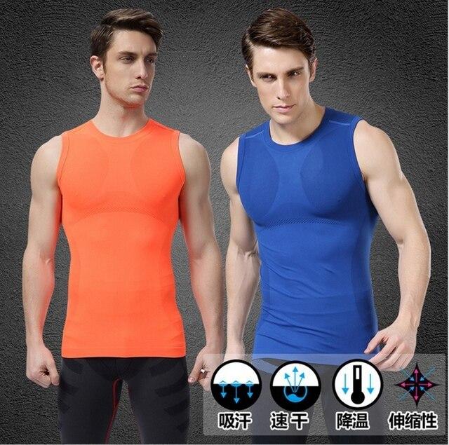 Мужская спортивная рукавов рубашки майка shapewear акцизного фитнес рубашки одежды профилировщик тела быстросохнущие MA03