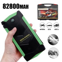 82800mAh Car Battery Jump Starter 12V 4 USB Portable Charger Booster LED Emergency Multifunction Power Bank Kit for Auto Car