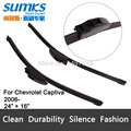 "Wiper blades for Chevrolet Captiva (from 2006 onwards) 24""+16"" fit standard J hook wiper arms only HY-002"