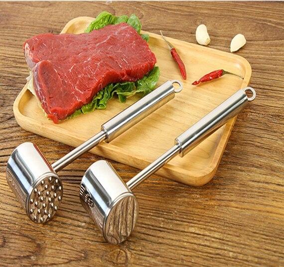 Tender meat hammer Stainless steel double-sided tender meat hammer double-sided hammers.Kitchen tool