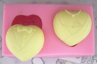 3D Silicone Soap Mold Heart Love Chocolate Mould Candle Polymer Clay Molds Crafts DIY Forms For