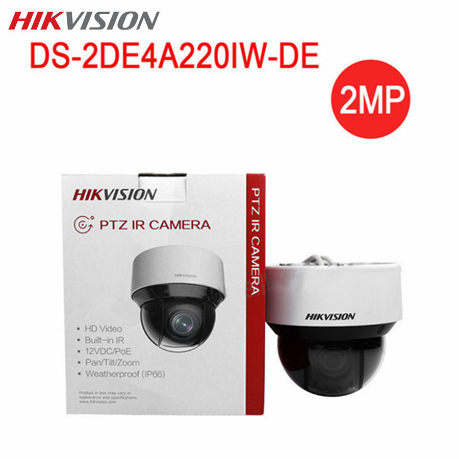 HIKVISION Mini 2MP PTZ PoE Camera DS-2DE4A220IW-DE P2P Night Version 20x optical zoom Wireless Outdoor Surveillance CCTV Camera hikvision ds 2ae7152 a 540tvl analog 3 84mm 88 32mm 23x zoom smart ptz camera infrared waterproof day night indoor outdoor