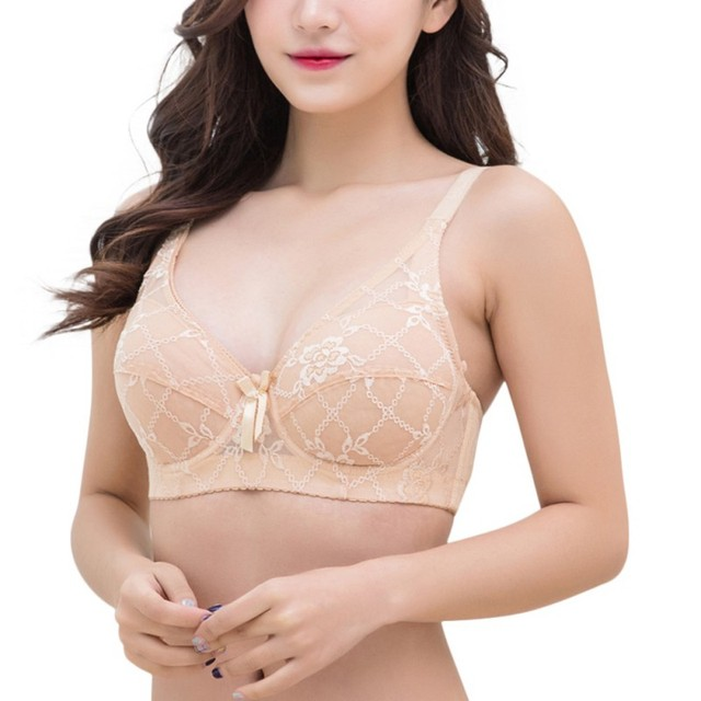 0b034d0175107 floral corset push up bra soft cotton lace bralette 3 4 cup wireless  underwire women bra sexy steel rings ladies bras for women
