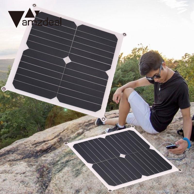 Amzdeal 13 Watt 6 V Flexible Schlanke Solar Panel Ladegerät Tragbare Outdoor Camping Power Reisen Stromversorgung DIY