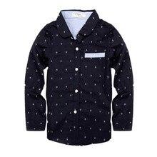 Точки блузки длинными рукавами рубашка мальчики рубашки весна топы детская одежда