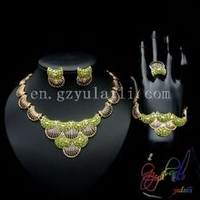 Free Shipping New Model Necklace Set Jewelry Round Statement Anniversary Copper Alloy Ladies Four Jewelry Set