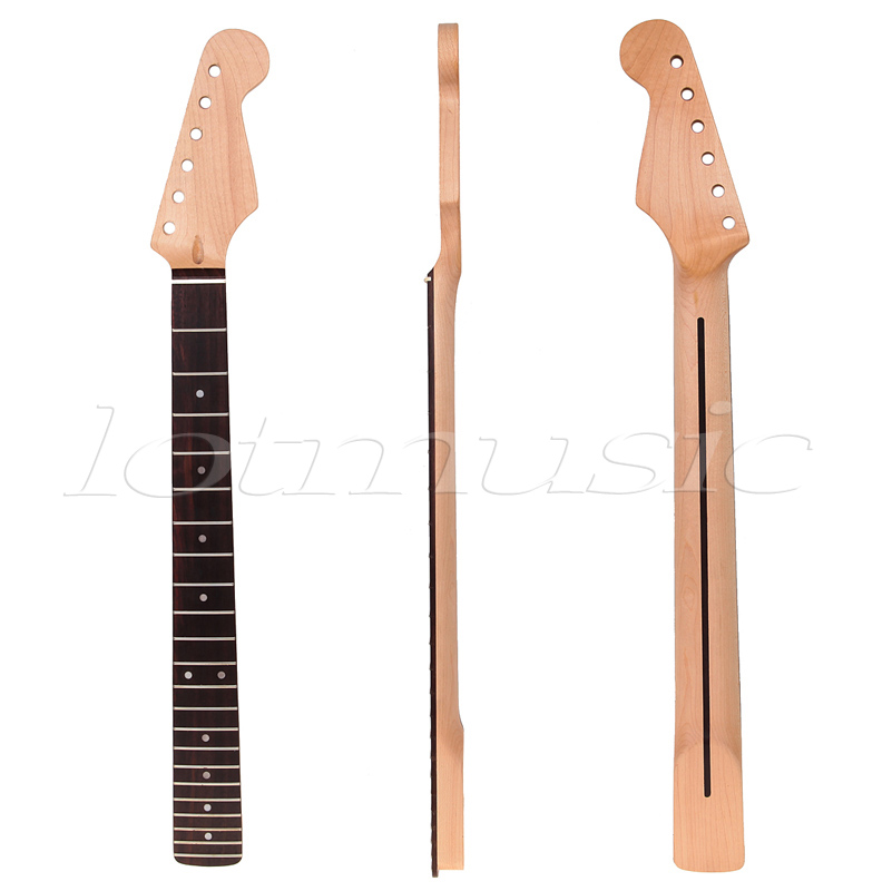 Maple Guitar Neck Rosewood Fingerboard 22 Frets For Fender ST Strat Replacement Parts maple guitar neck rosewood fingerboard 22 frets for fender st strat replacement parts