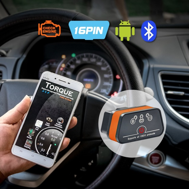 Vgate iCar 2 ELM327 Wifi/Bluetooth OBD2 Diagnostic Tool for IOS iPhone/Android Icar2 Bluetooth wifi ELM 327 OBDII Code Reader