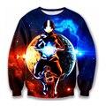 The Avatar State Crewneck Pullovers Men Women Long Sleeve Outerwear Galaxy Sweatshirts Cartoon Avatar 3D Sweatshirt Sportswear