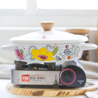 creative enamel pot ears milk pot stew pot soup cooker enamel steamer universal electromagnetic oven