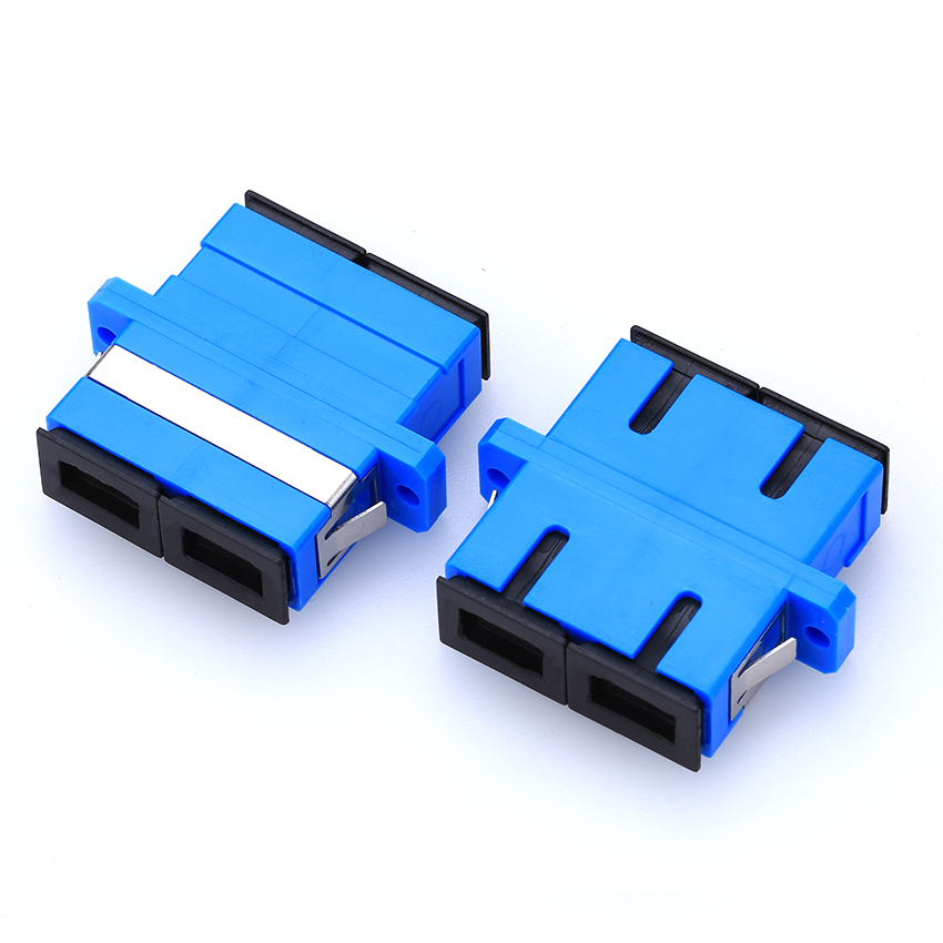 100pcs/lot SC To SC/PC Fiber Adapter SM Duplex Fiber Coupler Flange Joint SC-SC Fiber Optic Adapter Connector