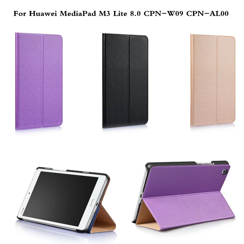 Multi Angle Folio Stand PU Leather Cover Protective Shell Tablet Case for Huawei MediaPad M3 Lite 8 8.0 Inch CPN-W09 CPN-AL00 ultra slim magnetic stand leather case cover for huawei mediapad m3 lite 8 0 cpn w09 cpn al00 8tablet case with auto sleep