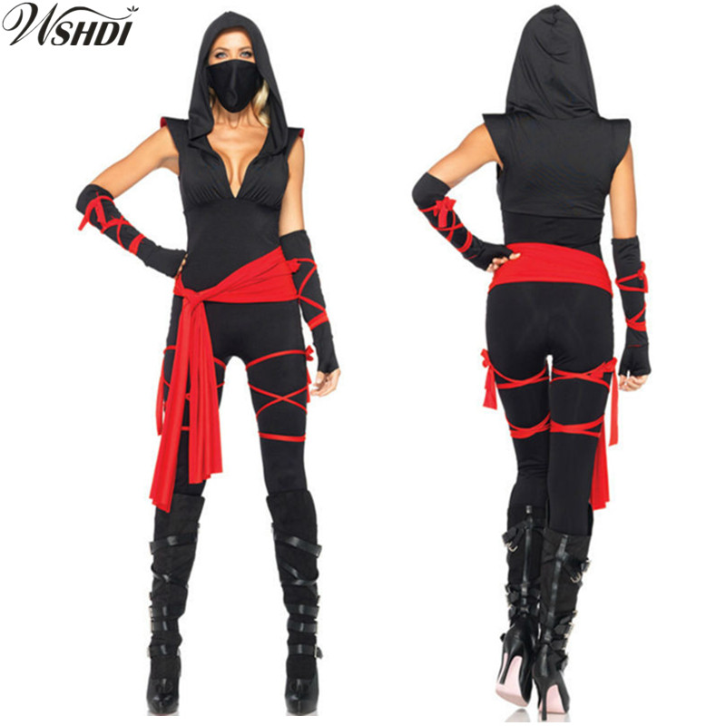 Anime Women Ninja Costumes Christmas New Year Purim Festival Halloween Cosplay Costume Arts Ninja Costumes For Adult Fancy Party