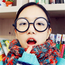 CURTAIN Points Zero Classic Retro Round Glasses Frame Ala Lei Cute Transparent Smart Girls without Lenses