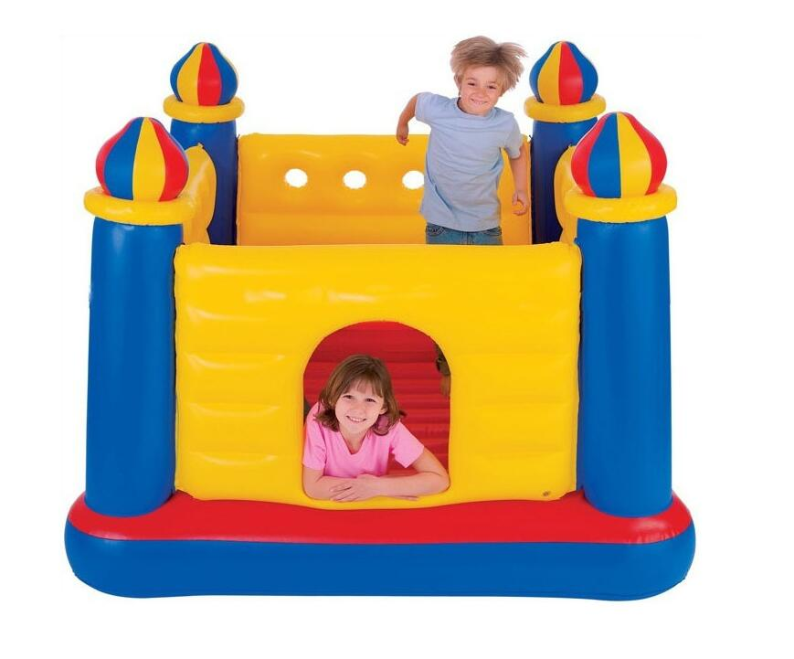 INTEX48259 Child Inflatable Castle Home Interior Mini Castle Thickening Jumping Ball Pool Playground 175*175*135cm