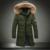 M-3XL de Los Hombres de Invierno Abajo de Algodón más el Abrigo de Invierno Chaqueta de Moda Cuello de piel de Solid Largo Masculino Parka Más Tamaño Outwear 2017 nueva