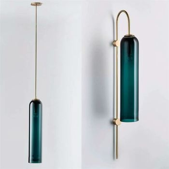 Modern Brass Wall lamp Sconce Glass Vintage Retro Copper Bedroom Bedside Hotel Restaurant mirror indoor wall lights White Color
