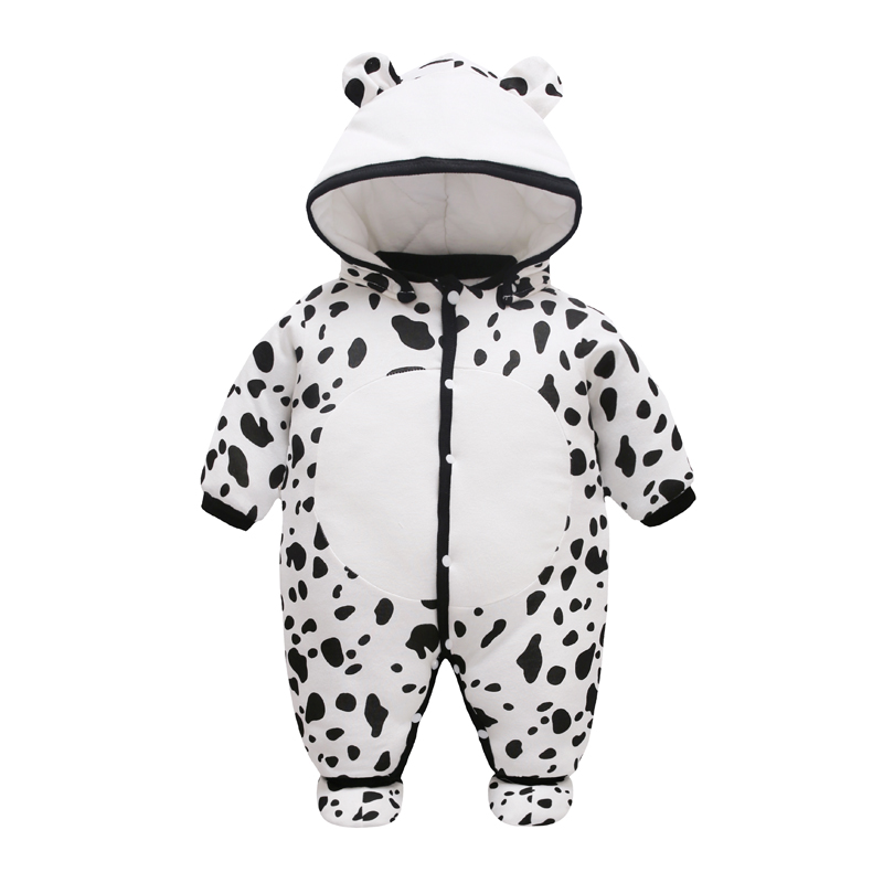 цены 2017 NEW Baby Rompers Winter Thick Warm Baby boy Clothing Long Sleeve Hooded Jumpsuit Kids Newborn Outwear for 0-12M Baby Girls