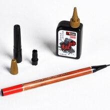 Китайская каллиграфия, перезаправляемый с кисточкой, маленькая обычная ручка с черными чернилами