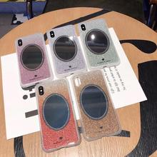 Luxury Circular mirror Color Cases Cell Shell for the Glass Back Cover of iPhone 7 Plus case 8 6 6s x s Max XR