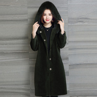 5XL mouton Coat female jacket women's jacket fur coat coat Women's winter jackets real fur women's fur coats winter