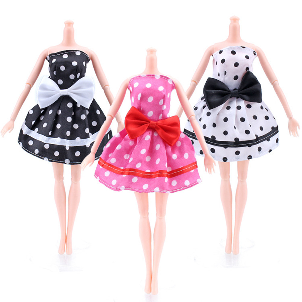 Baby Doll Cool Fashion Cute Pajamas Polka Dot Dress Clothes For Generation 18Inch Girl -5875