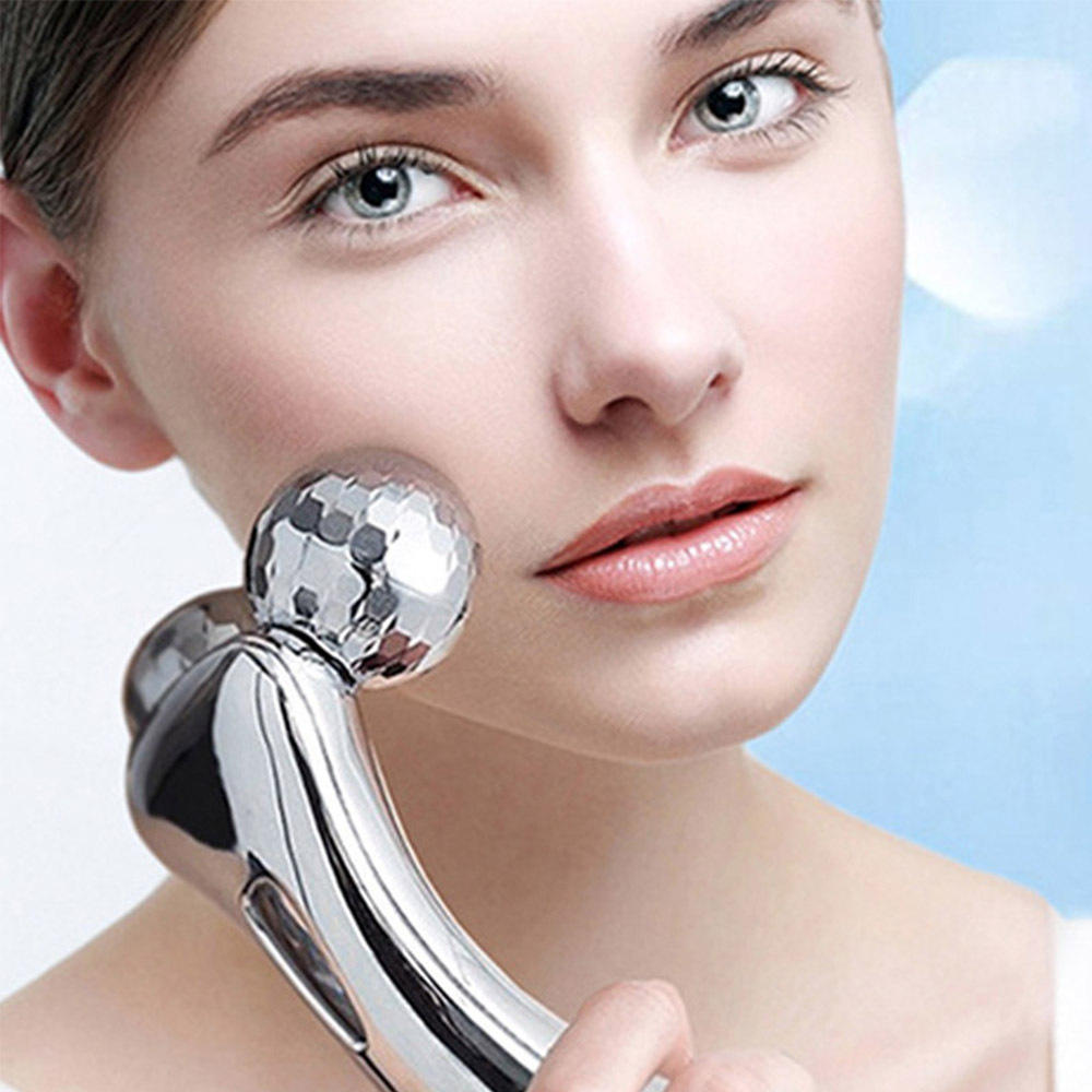 New 3D face lift roller, beauty bar, face massager, thin double chin beauty apparatus body shaping skin massager slimming face lift massager roller v face solar microcurrent massage tighten skin wrinkle remover chin body leg slimming