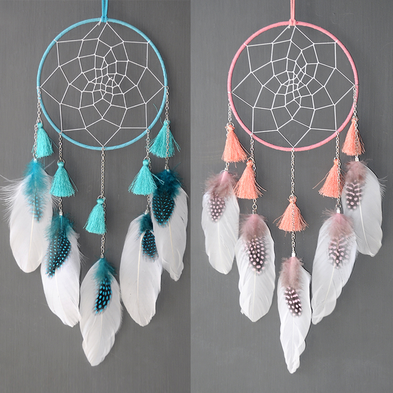 Nordic Dream Catcher Room Decoration Large White  Gree Pink Dreamcatcher Kids Girls Room Decor  Gift For Women Girl