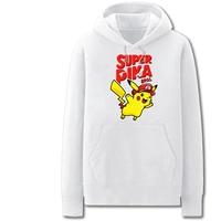 Winter 100% Cotton Men Women Hoodies Sweatshirts Pokemon Go Super Pika 3d print Tops Pullover 2017 Casual Cheap Hoodie Pullover