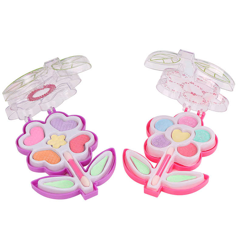 Princess Makeup Flower Children's Makeup Toy Set Girls Makeup Training Kids Birthday Gift Play House Cosmetics Pretend Play Toys