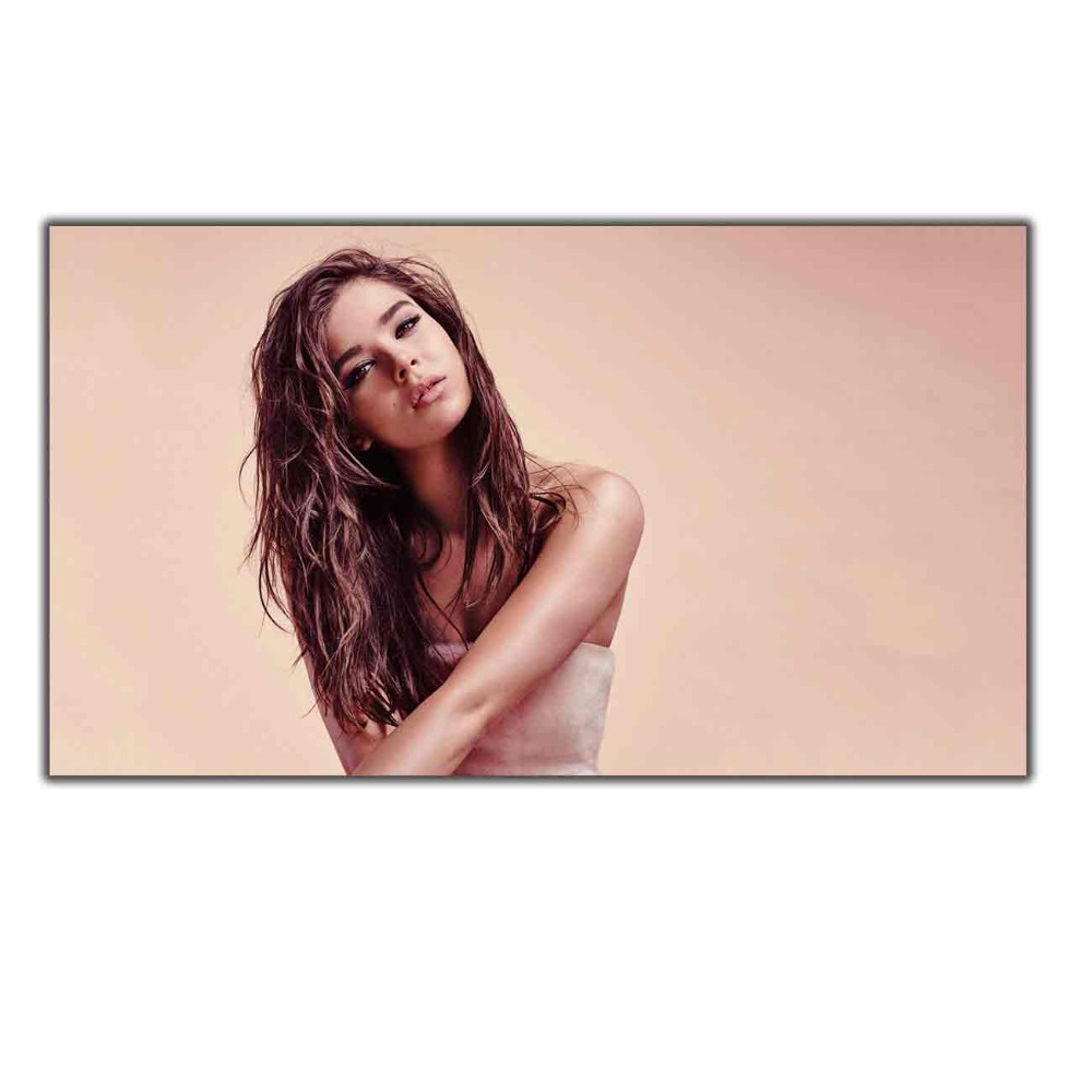 Hailee Steinfeld Actress Beautiful Girl painting12x18 24x36 27x40 Art silk Poster Wall Canvas Print Modern Decoration image
