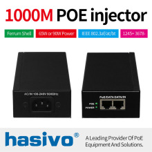 90W 65W POE adapter Gigabit Injector Ethernet power for IP Camera Phone Wireless AP PoE Power Supply