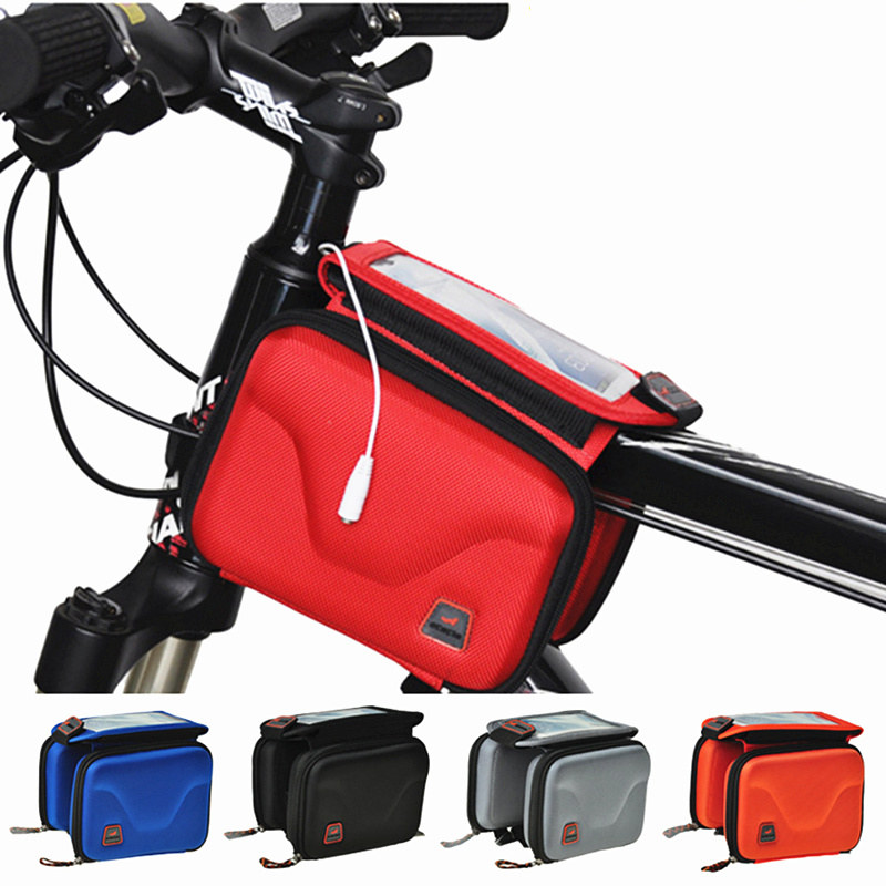 Hot Waterproof Hard Bicycle Bag Bike Front Bag Tube Phone