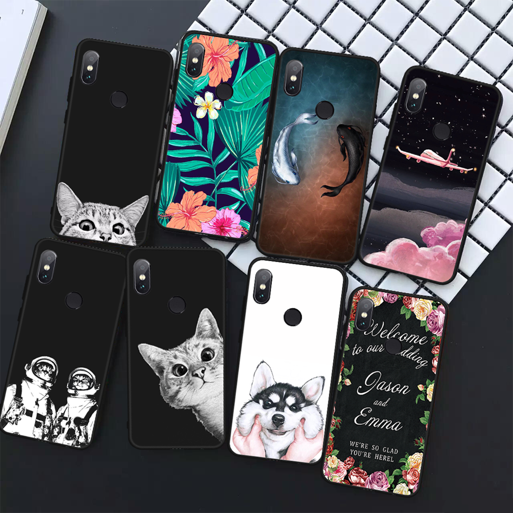 Pattern Phone Case For Xiaomi Mi A1 A2 Lite Mi 5X 6X Redmi 6 Pro 6A 5 Plus Note 5 Pro 5A Pocophone F1 Poco F1 Cover Soft Fundas