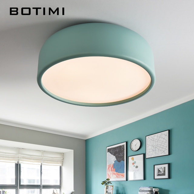 Botimi Creative Led Ceiling Lights Modern Hanging Lighting For Dining Room Mounted Kitchen Light Suspension